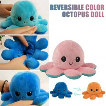 Octopus Stuffed Toy Dolls Kids Cute Octopus Plush Toys Chapter Plush Doll Reversible Double Sided Flip Octopus Plush Toy for Children Gifts