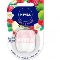 Nivea Pop Ball Raspberry & Red Apple Lip Balm 7g