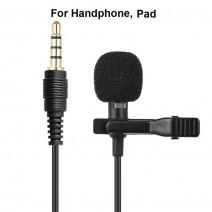 PC / Phone / Camera Mini USB Microphone Lapel Lavalier Mic Portable