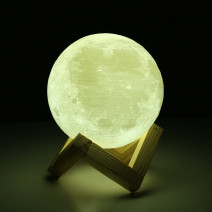 3D Print Moon LED Night Lamp Rechargeable