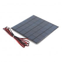 2W 12V 167mA Mini Polycrystalline Solar Panel + 100cm Red & Black Wires
