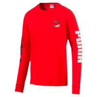 Classics Logo LS Tee High Risk Red ( 59538647 )